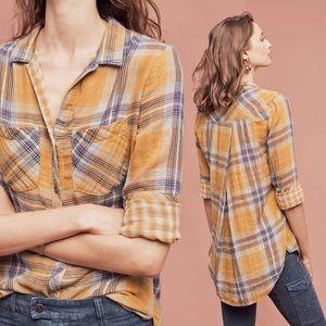 Anthro Cloth & Stone Brecken Button Down Shirt